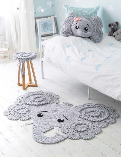 Crochet Animal Rugs Book by Ira Rott - English