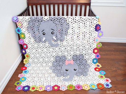 Crochet Elephant Blanket Pattern by IraRott