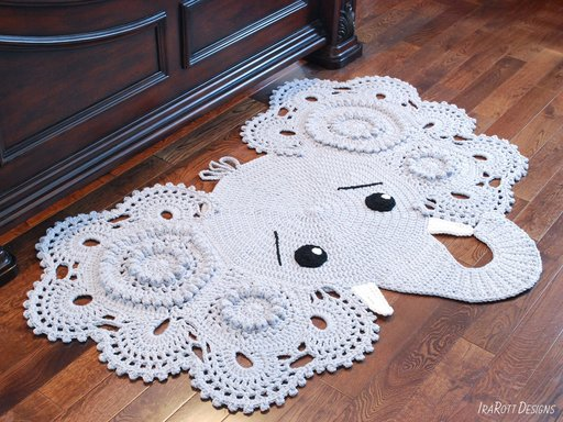 Crochet Elephant Rug Pattern by IraRott