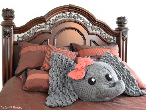 Crochet Elephant Pillow Pattern by IraRott