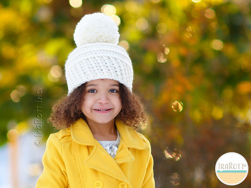 Crochet Winter Hat with PomPom for babies kids and adults pattern by IraRott