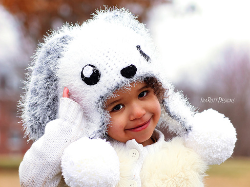 Bunny Rabbit Animal Hat Crochet Pattern For Boys and Girls of all ages by Irarott