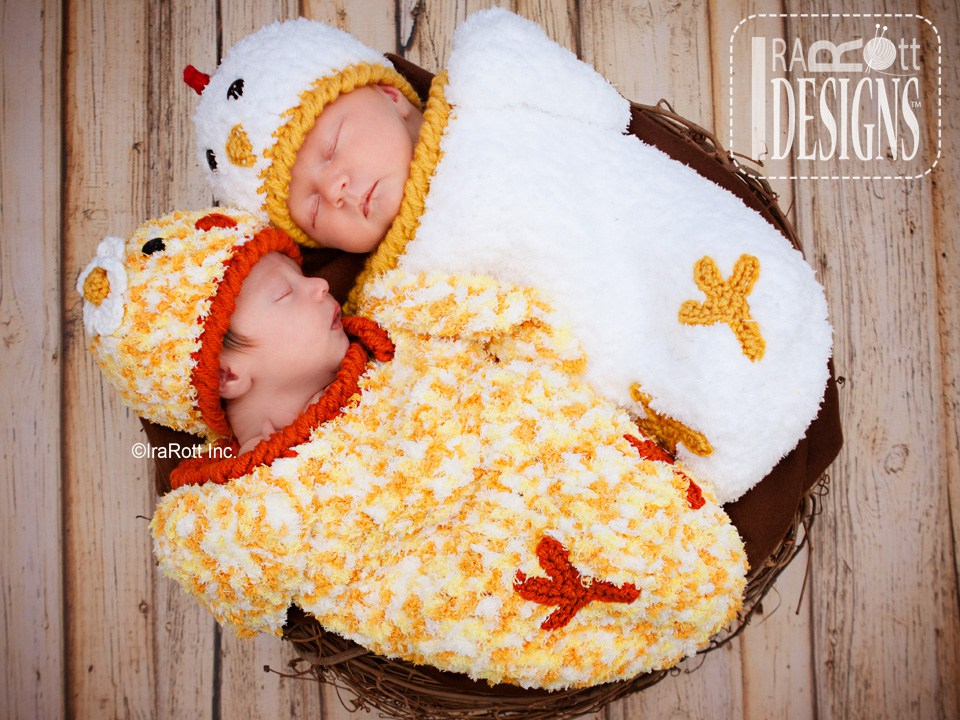 Bok Bok Easter Chicken Baby Hat and Cocoon Set PDF Crochet ...