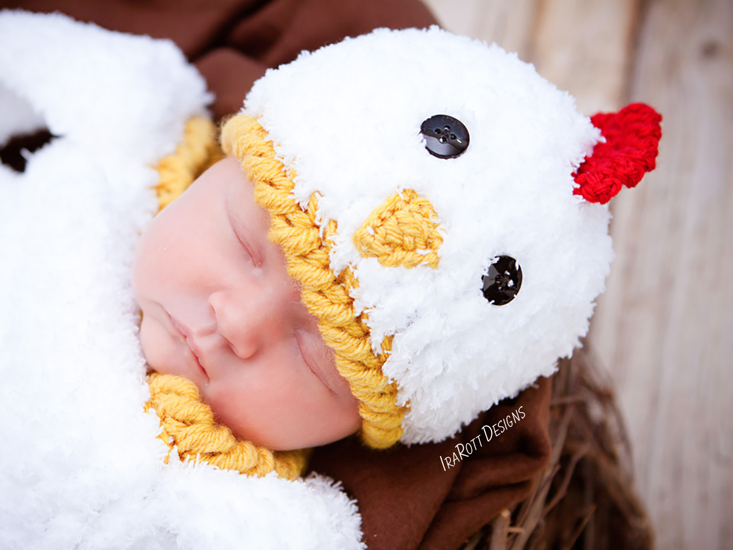 Bok Bok Easter Chicken Baby Hat and Cocoon Set PDF Crochet Pattern ... 423a7877160