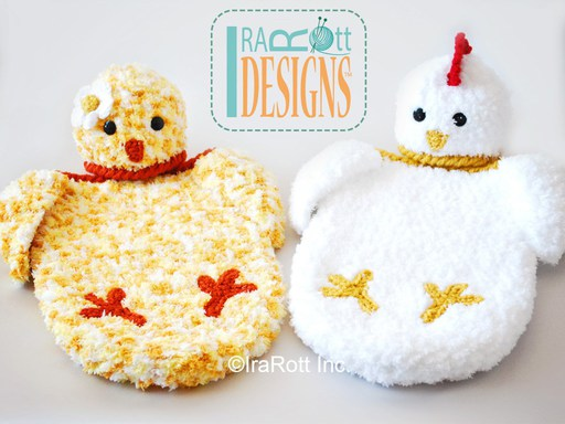 Chicken Hat and Cocoon Photo Prop Set for Easter for Babies by IraRott