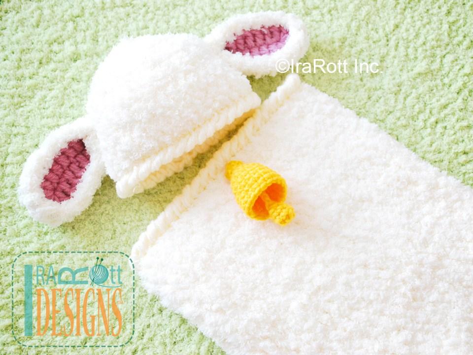 Baa Baa Baby Lamb Hat And Cocoon Set Pdf Crochet Pattern Irarott Inc