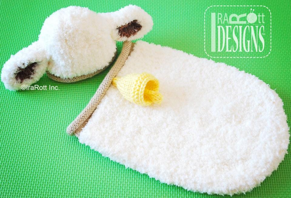 Baa Baa Baby Lamb Hat And Cocoon Set Pdf Knit Pattern Irarott Inc