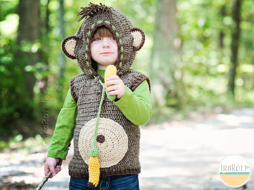 Chip The Banana Monkey Vest PDF Crochet Pattern With Instant Download by IraRott