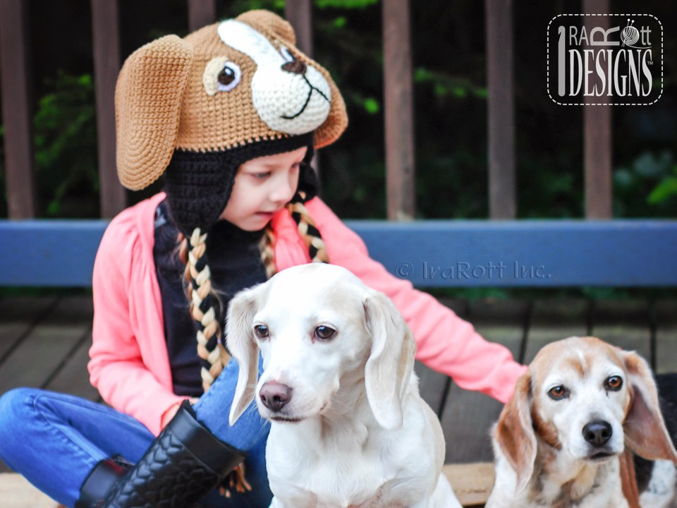 Bobby The Beagle Hat Pdf Crochet Pattern Irarott Inc