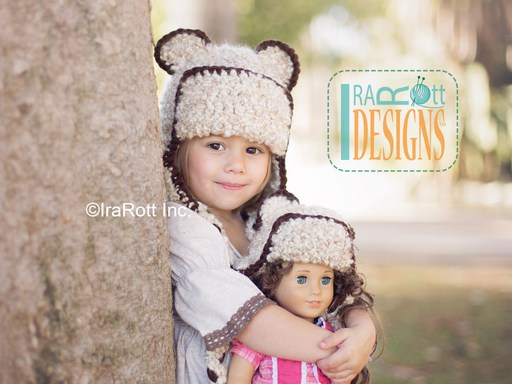 Bear Animal Hat or Kitty Hat Crochet Pattern for kids babies and adults