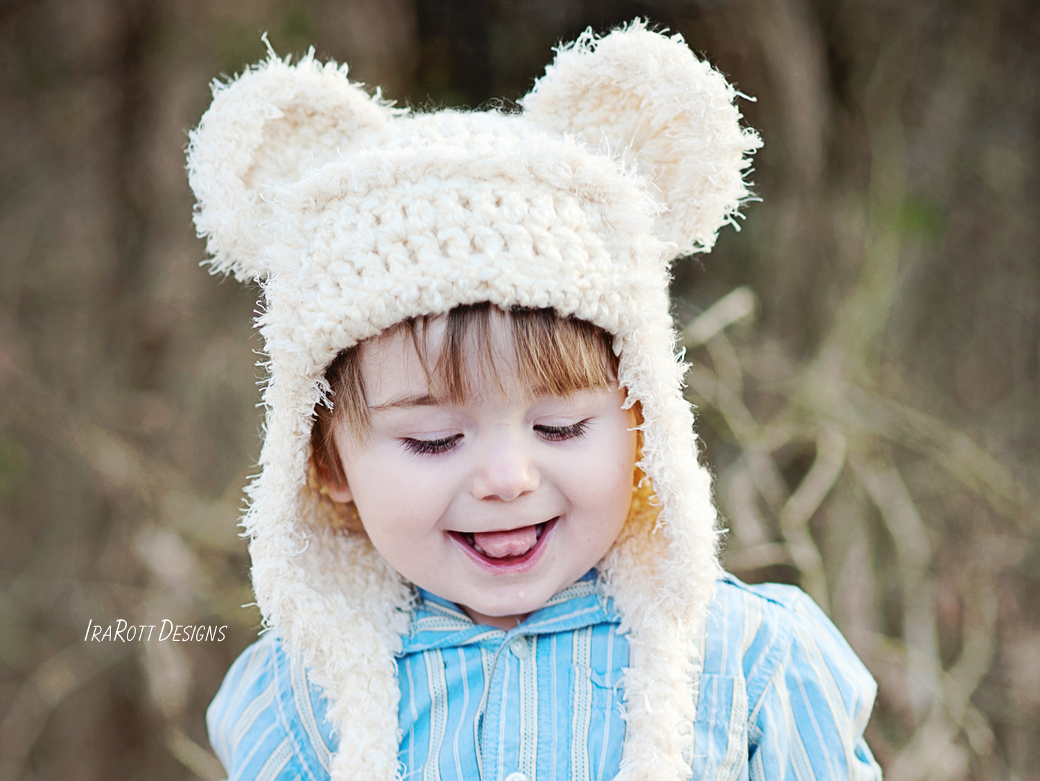 Bear Animal Hat or Kitty Hat Crochet Pattern for boys and girls of all ages