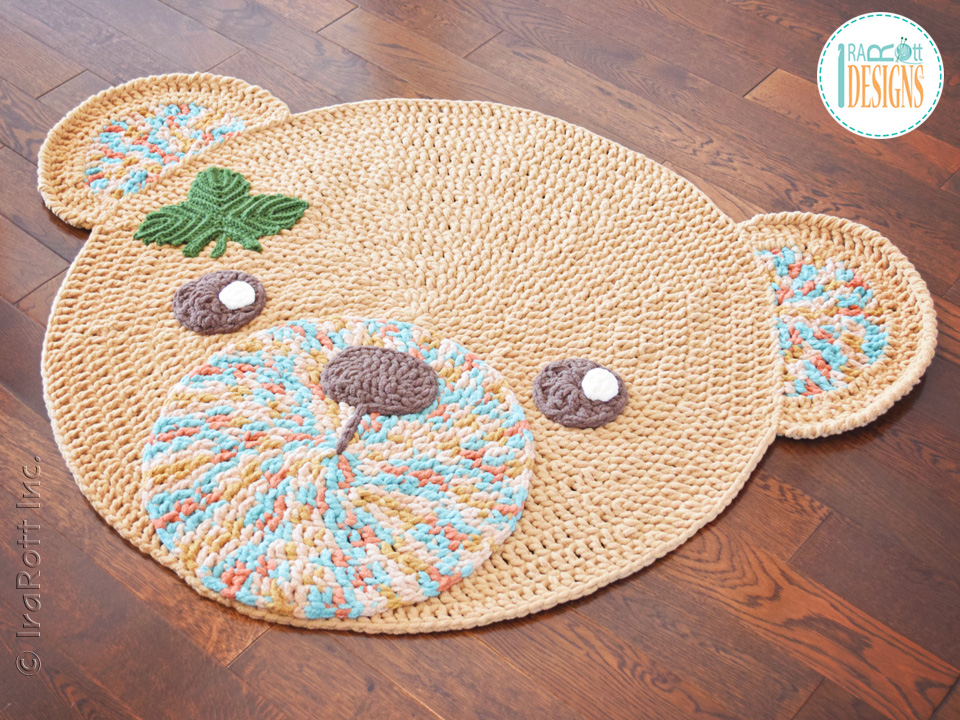Lovely Classic Bear Rug Crochet Pattern For Nursery Or Play Room By IraRott