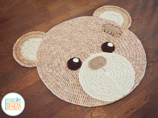 Classic Bear Rug Crochet Pattern for Nursery or Play Room by IraRott