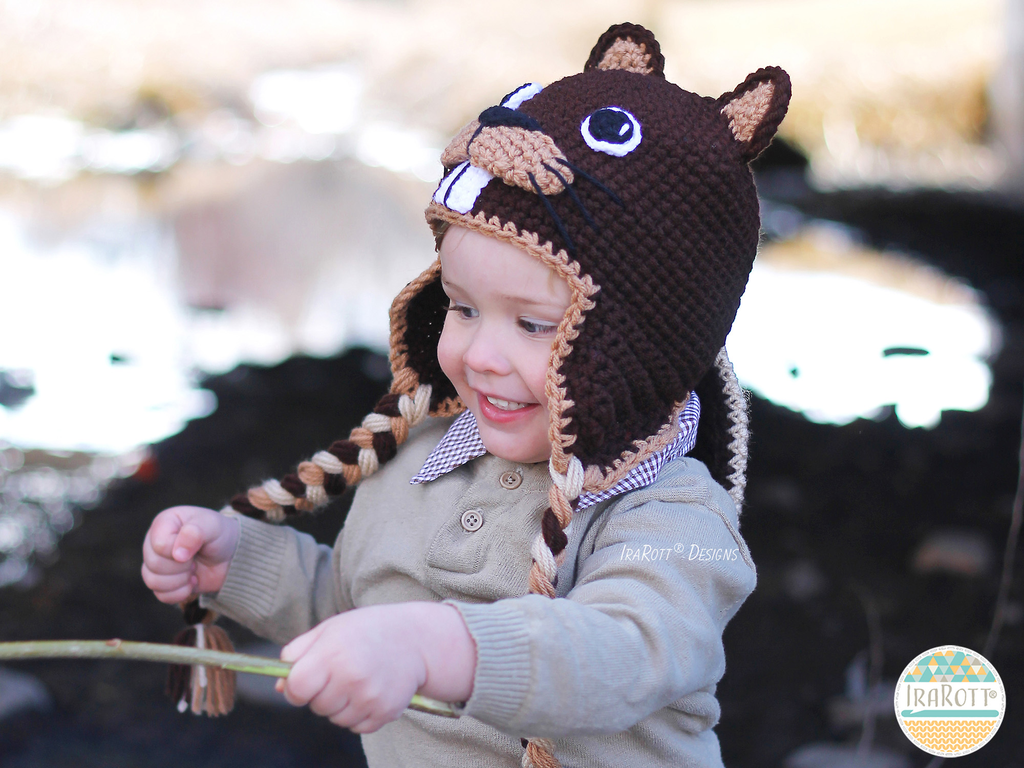Beaver Animal Hat Crochet Pattern for babies kids and adult by IraRott 80ec231450e