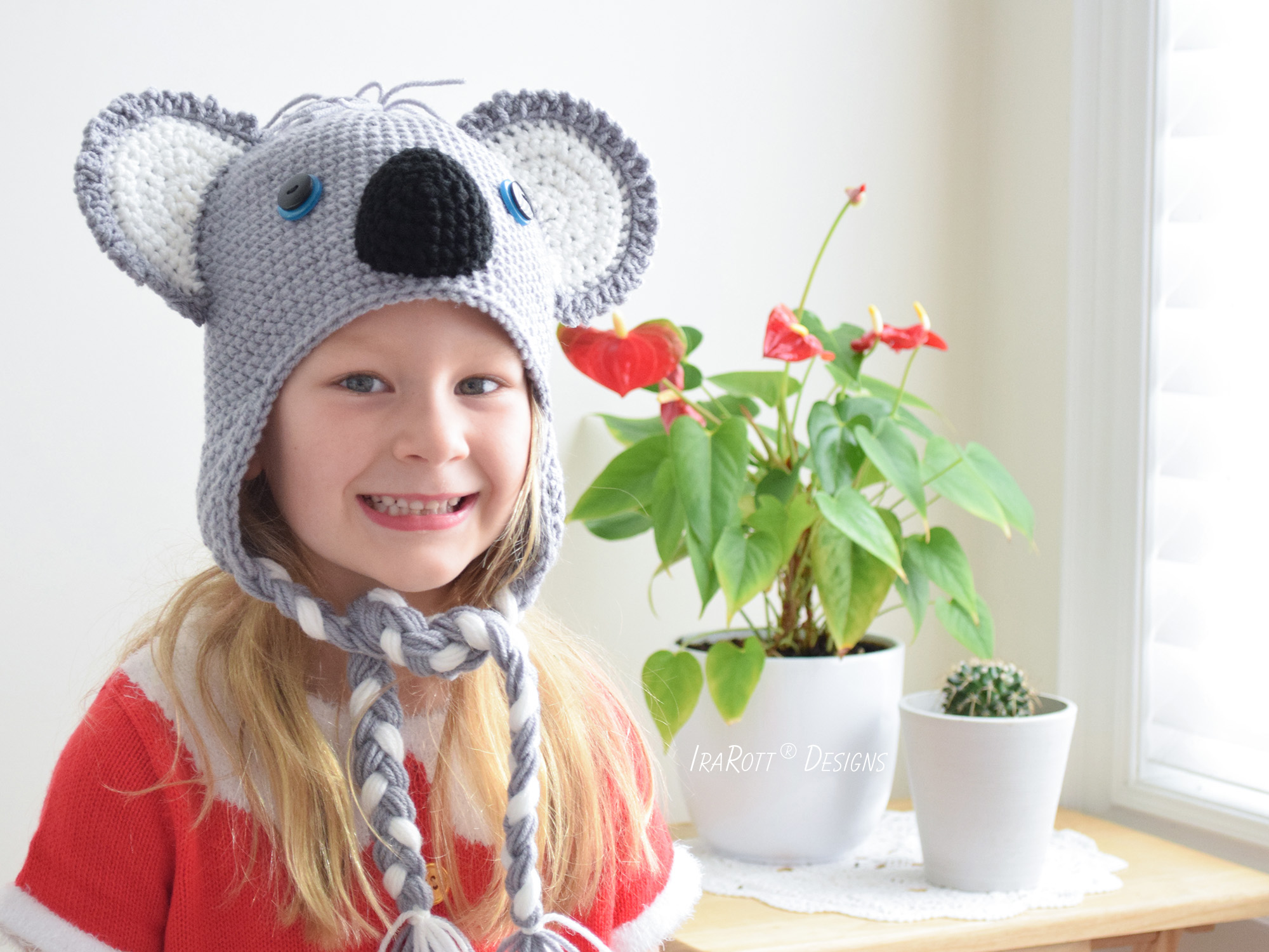 Blinky Koala Bear Hat PDF Crochet Pattern - IraRott Inc.
