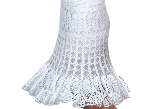 PDF Crochet Pattern for making a Lace Skirt using Bruges Crochet Technique