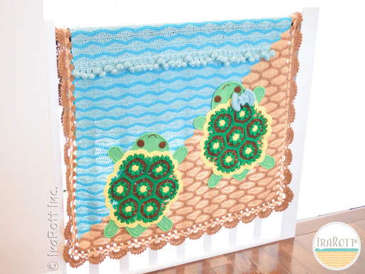 Bubbles The Turtle Blanket PDF Crochet Pattern With Instant Download by IraRott