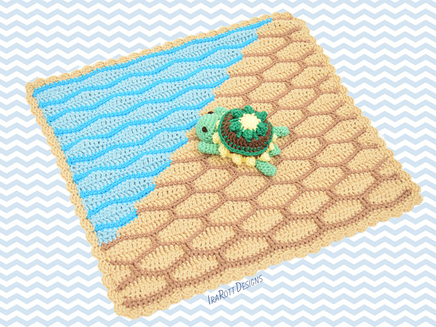 Bubbles The Turtle Security Blanket PDF Crochet Pattern With Instant Download by IraRott