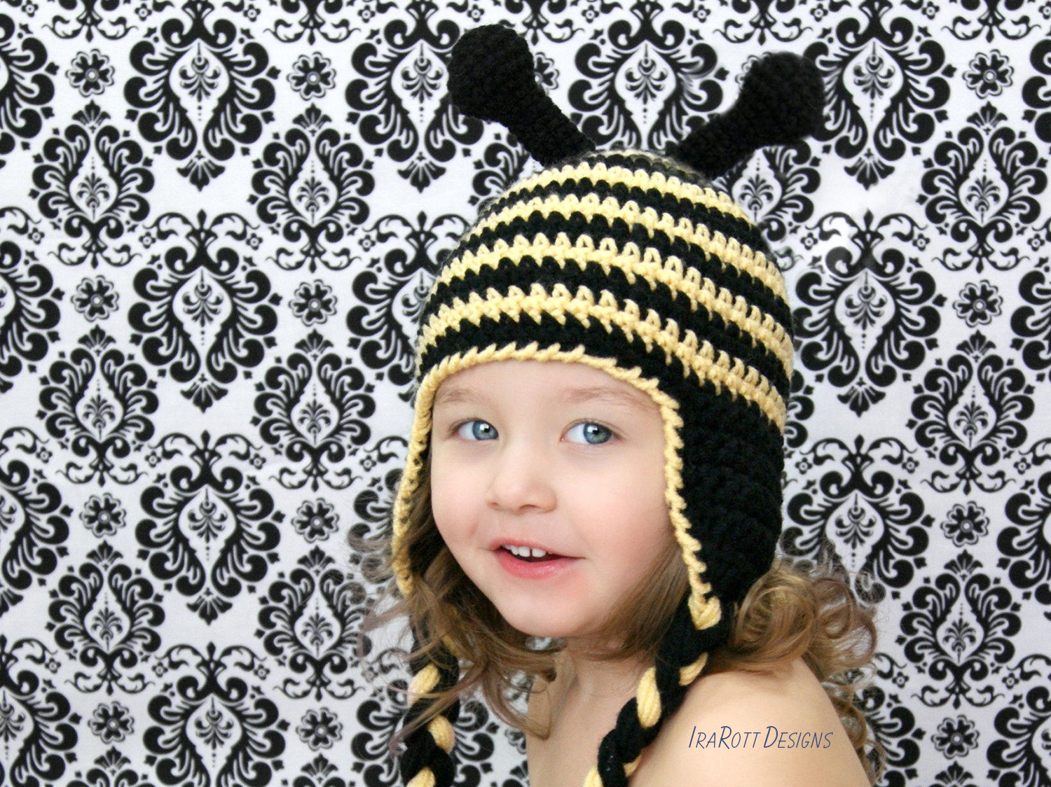 Bumblebee Animal Hat for boys and girls of all ages by IraRott