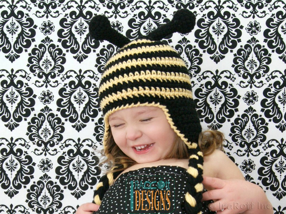 Busy Bee Bumblebee Hat PDF Crochet Pattern - IraRott Inc.