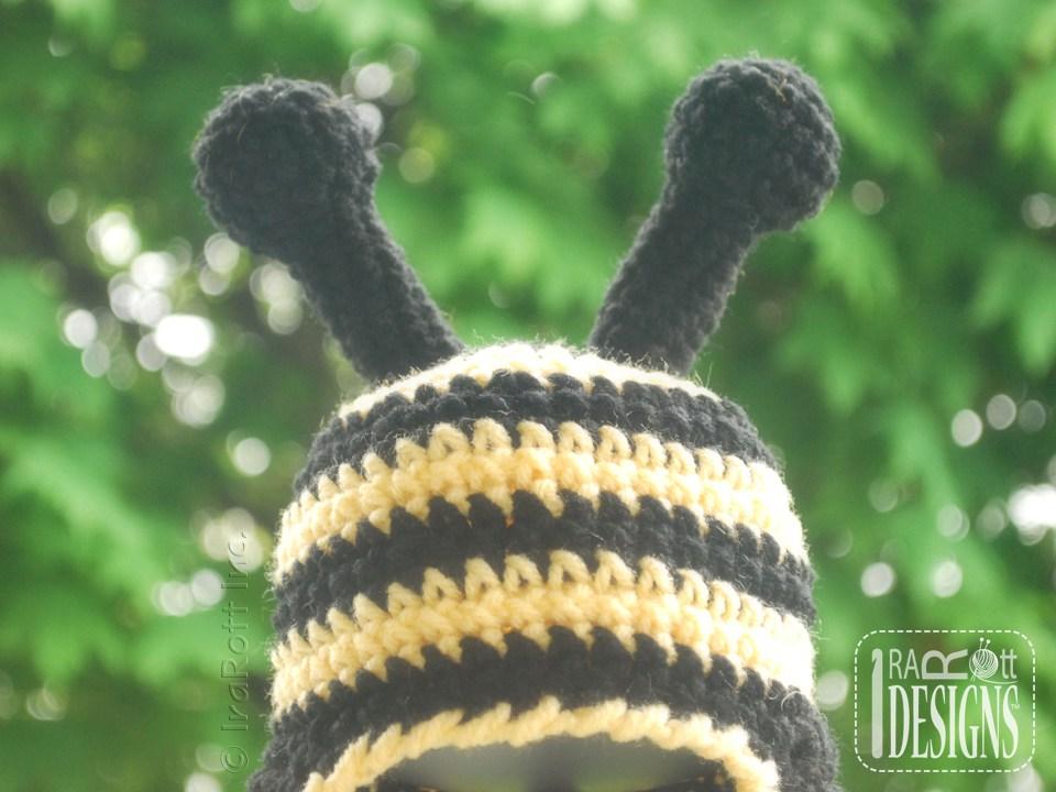 Busy Bee Bumblebee Hat Pdf Crochet Pattern Irarott Inc