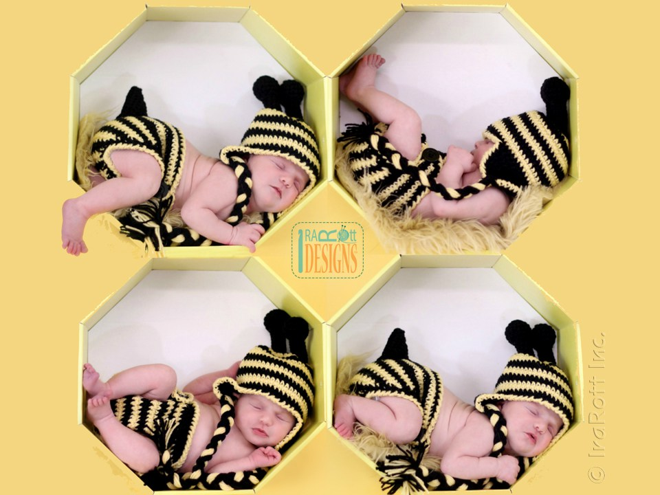 Lazy Bee Hat And Diaper Cover Baby Set Pdf Crochet Pattern Irarott