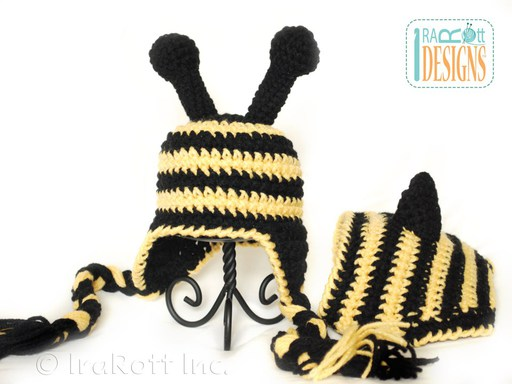 Bumble Bee Hat and Diaper Cover Crochet Pattern for Babies