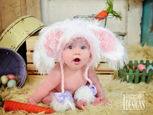 Easter Bunny Rabbit Hat for boys and girls of all ages by IraRott