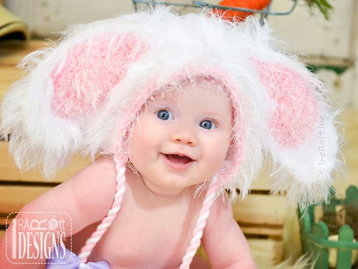 Easter Bunny Rabbit Hat for babies kids and adults by IraRott