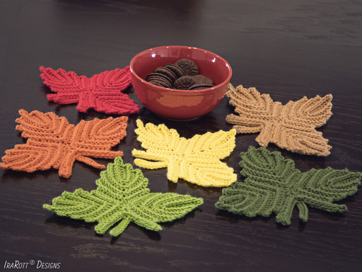 Canadian Maple Leaf Coaster or Applique PDF Crochet Pattern - IraRott Inc.