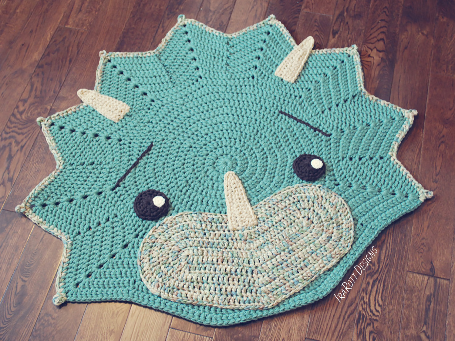Tops The Triceratops Dino Baby Set Pdf Crochet Pattern Irarott Inc