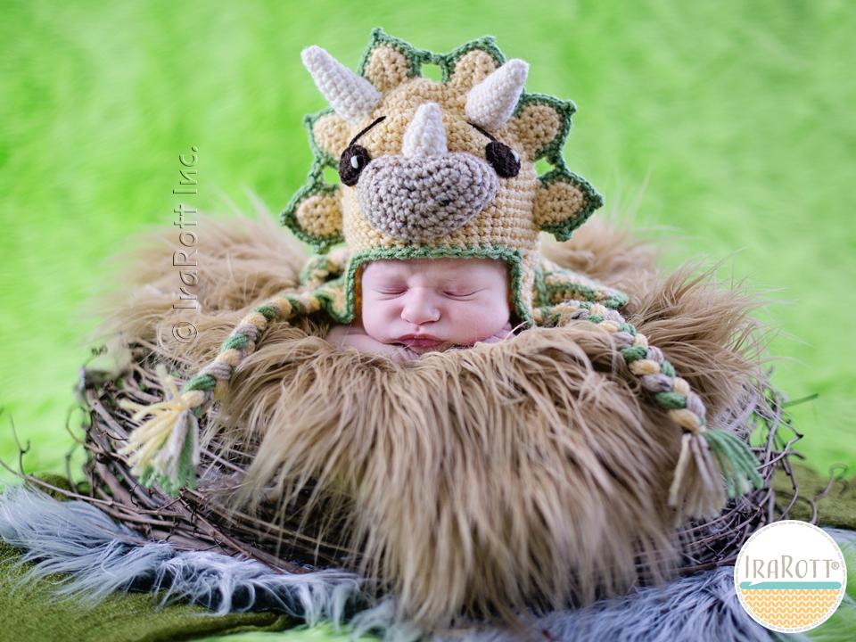 Tops The Triceratops Dino Baby Set Pdf Crochet Pattern Irarott Inc