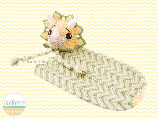 Tops the Triceratops Dinosaur Hat and Cocoon Baby Set PDF Crochet Pattern With Instant Download by IraRott