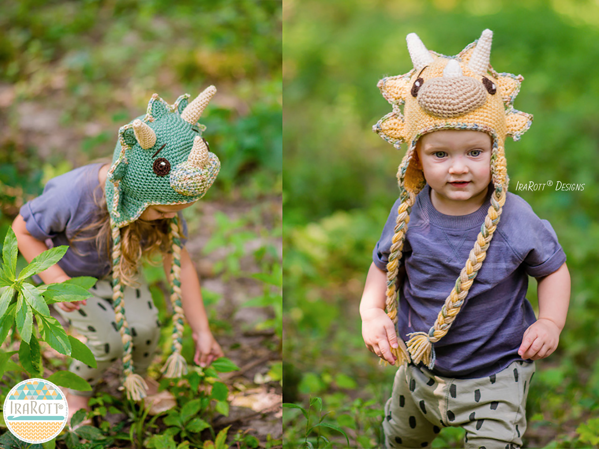 CERA THE TRICERATOPS DINO HAT PDF CROCHET PATTERN