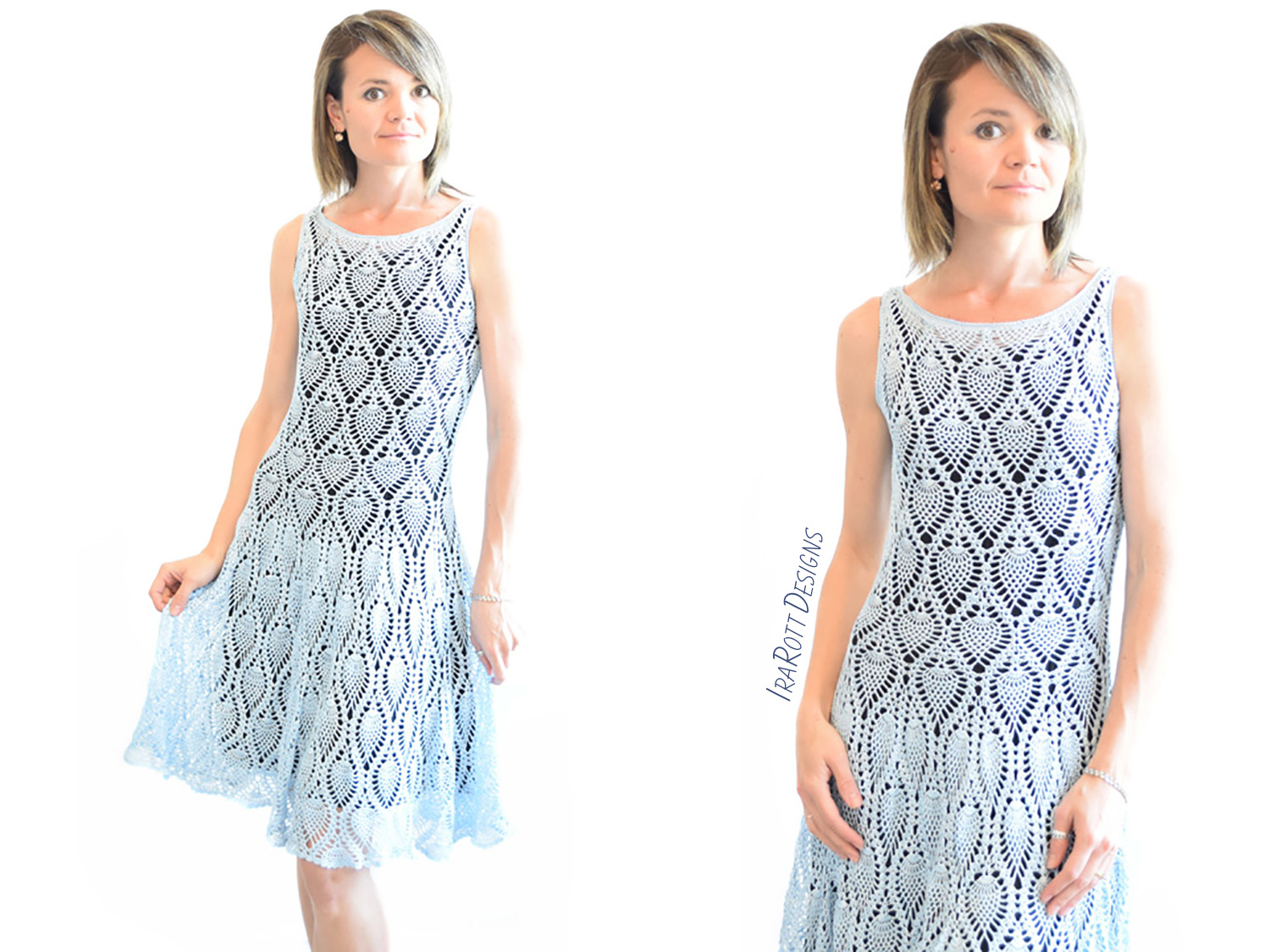 Charming Pineapples Prom Dress Pdf Crochet Pattern Irarott Inc
