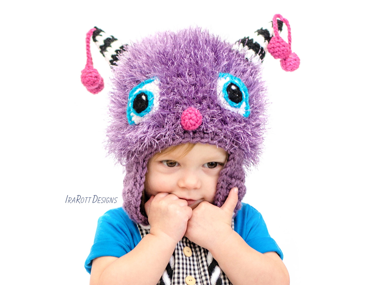 Elly The Cherry Cat Monster Hat Pdf Crochet Pattern Irarott Inc