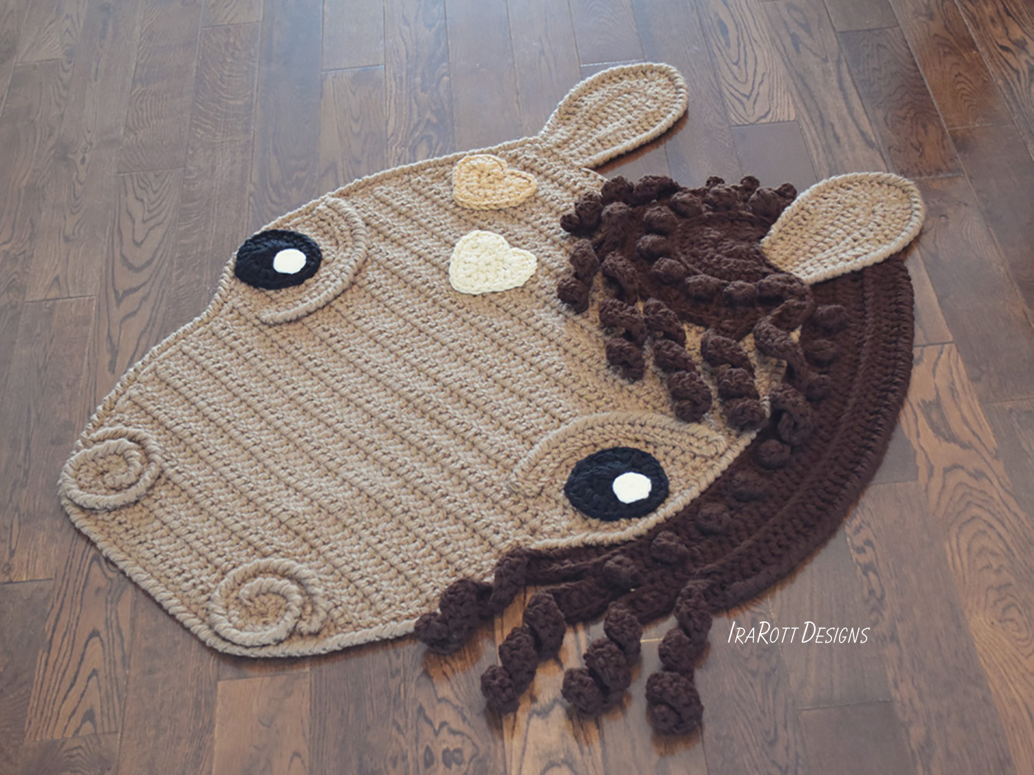 Chestnut The Loyal Horse Rug PDF Crochet Pattern With Instant Download by IraRott