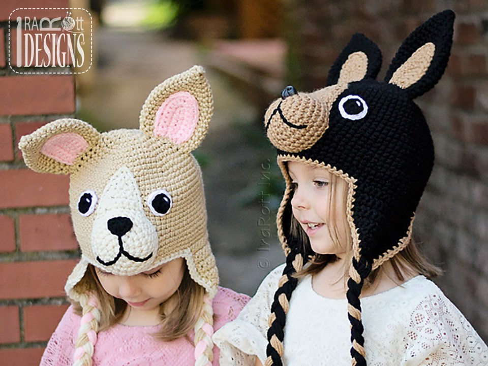PDF Crochet Pattern for making a cute Chihuahua Puppy Dog Hat with big Ears 78a83dc9c480
