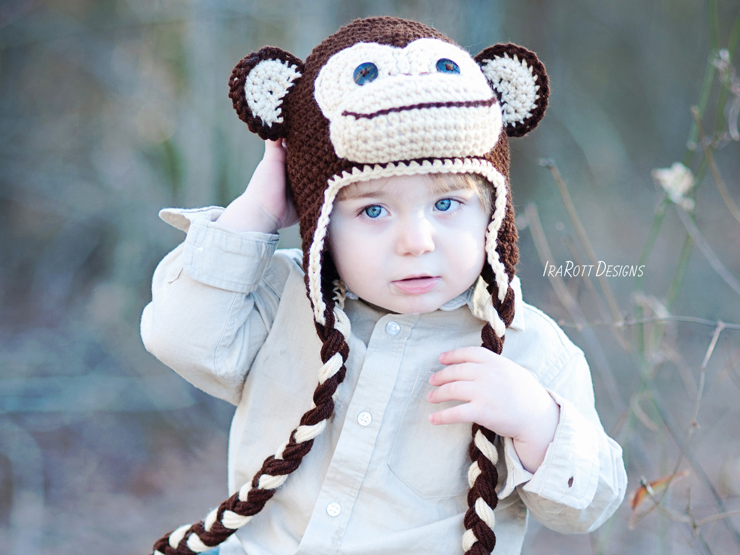Chuck The Chimpanzee Monkey Hat Pdf Crochet Pattern Irarott Inc