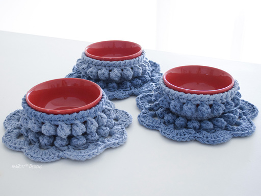 Chunky Bowl Cozy And Coaster PDF Crochet Pattern by IraRott