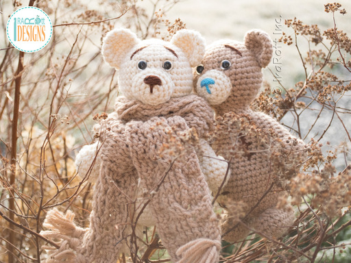 Crochet Pattern PDF for making an adorable Classic Teddy Bear Amigurumi Animal by IraRott
