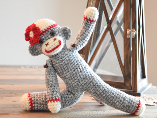 Spunky The Little Sock Monkey Amigurumi PDF Crochet Pattern by IraRott