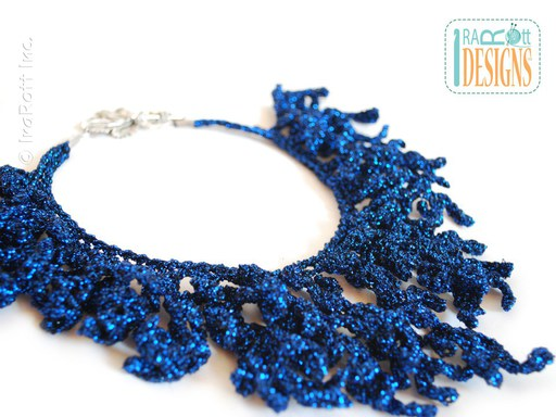 Free PDF Pattern for making a Crochet Coral Reef Necklace Jewelry