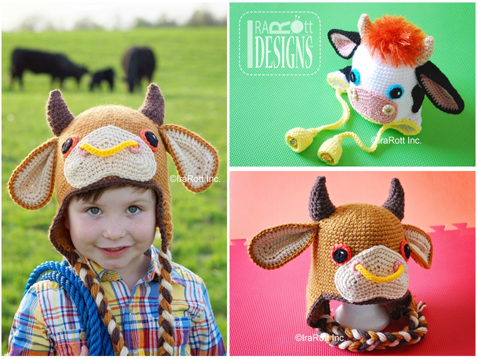 Luna the Moo-Moo Cow and Bull PDF Crochet Pattern - IraRott Inc.