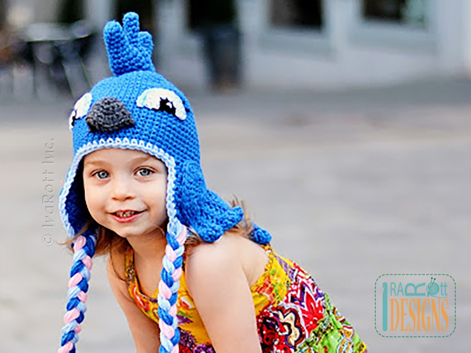 Blue Parrot Hat PDF Crochet Pattern - IraRott Inc.