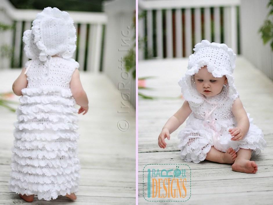 Christening Gown Yarn Free Knitting Patterns Crochet Patterns