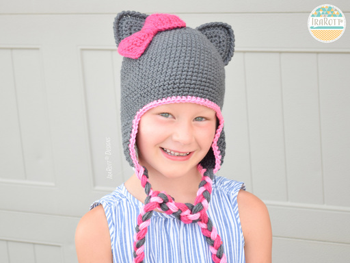 Sassy The Kitty Hat With Bow PDF Crochet Pattern by IraRott