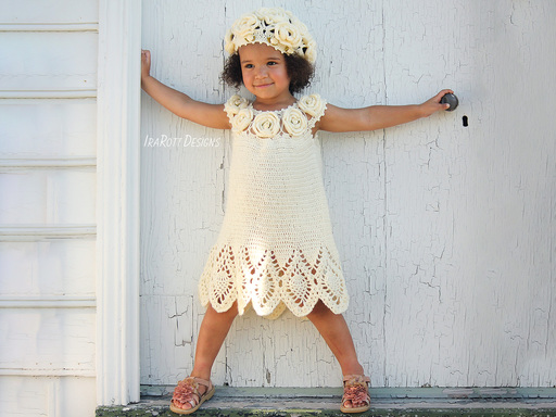 Summer Dress Beret Crochet Pattern for babies and kids by IraRott