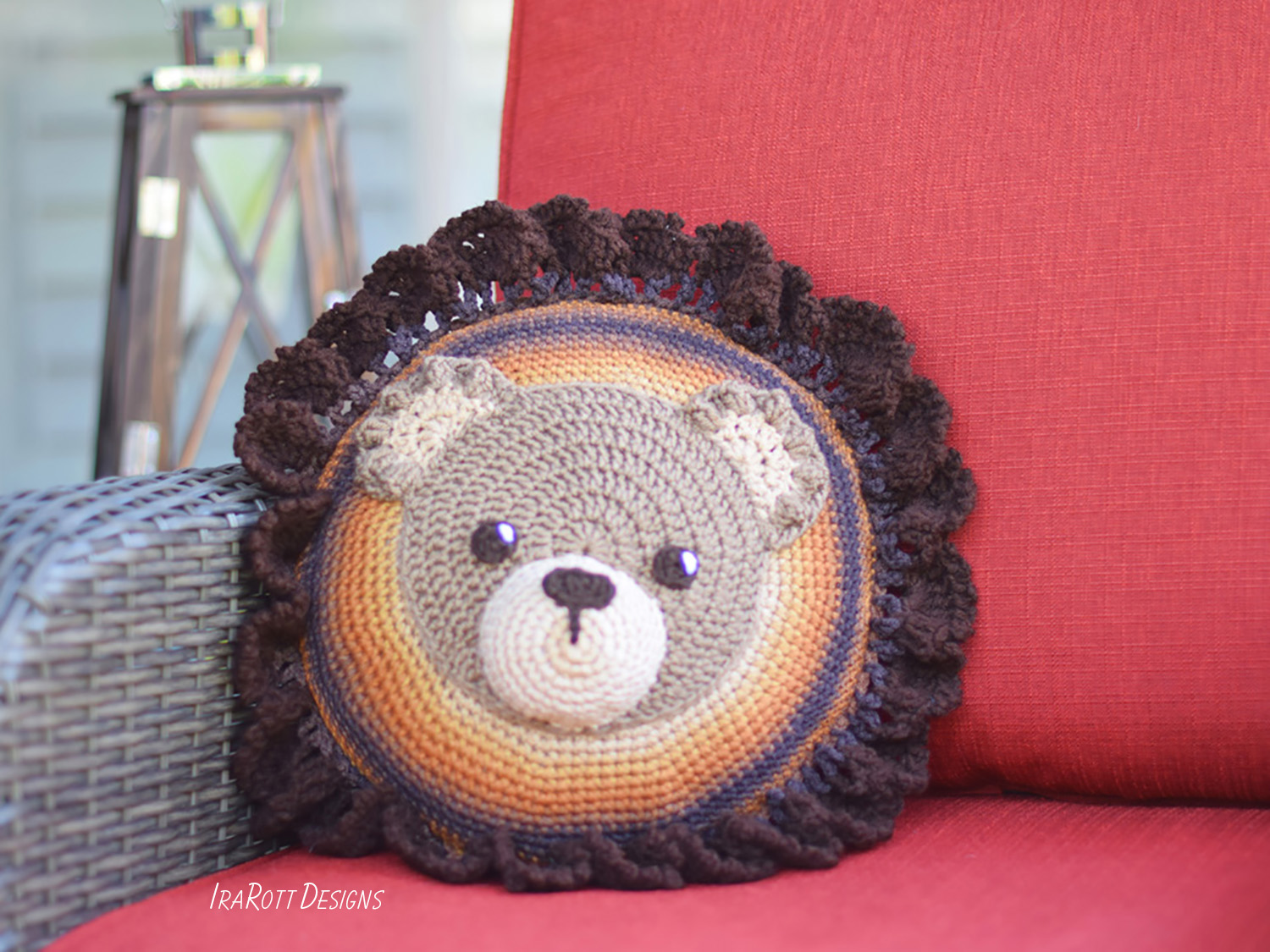 cbe2d4f03356 Cuddles The Classic Bear Pillow PDF Crochet Pattern With Instant Download  by IraRott