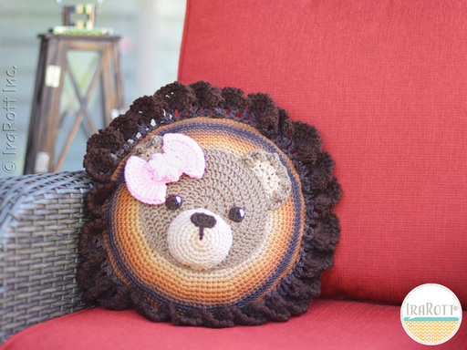 Cuddles The Classic Bear Pillow PDF Crochet Pattern With Instant Download by IraRott